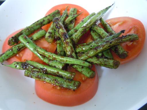 いんげんとトマトのスタミナサラダ